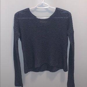 dark greyish blue hollister sweater